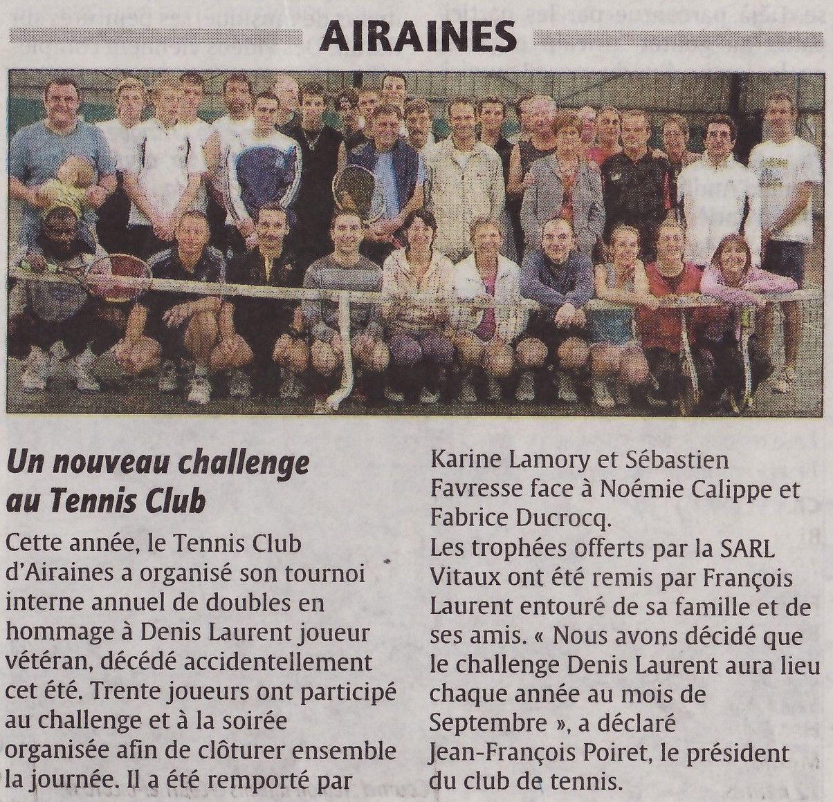 article paru dans le courrier picard le 11/10/2008